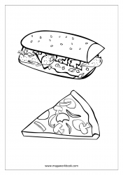 Sandwich And Pizza