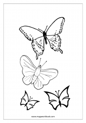 Insect Coloring Pages - Butterflies