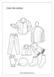 Coloring Sheet - Clothes