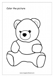 Coloring Sheet - Teddy Bear