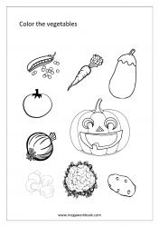 Coloring Sheet - Vegetables