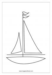 Coloring Sheet - Boat