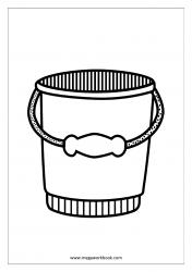 Coloring Sheet - Bucket