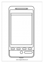 Coloring Sheet - Cell Phone