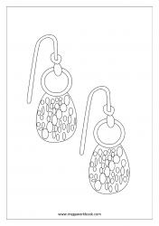 Coloring Sheet - Earrings