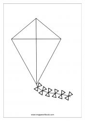 Coloring Sheet - Kite
