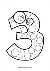 Coloring Sheet - Number Three (3)