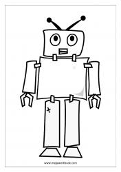 Coloring Sheet - Robot