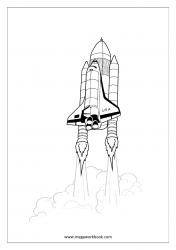 Coloring Sheet - Rocket