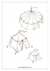 Coloring Sheet - Tents