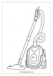 Coloring Sheet - Vacuum Cleaner