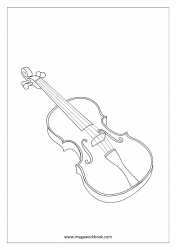 Coloring Sheet - Musical Instruments (Violin)