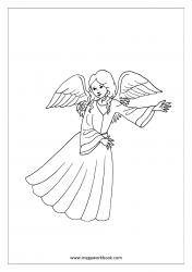 Coloring Sheet - Angel