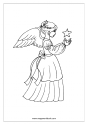 Coloring Sheet - Fairy