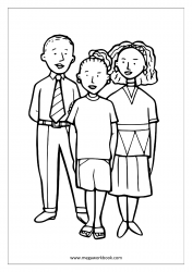 Coloring Sheet - Family
