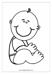 Coloring Sheet - Happy Infant