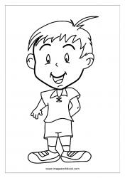 Coloring Sheet - Happy Kid