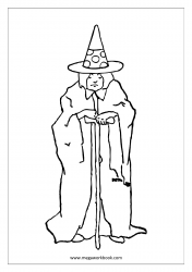 Coloring Sheet - Old Witch