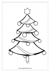 Christmas Coloring Pages - Christmas Tree Coloring Page