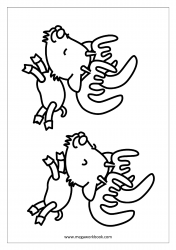 Christmas Coloring Pages - Free Printable Christmas Coloring Sheet - Reindeers