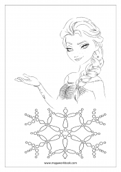 Christmas Coloring Pages - Christmas Coloring Sheets - Princess Elsa (Frozen Movie)
