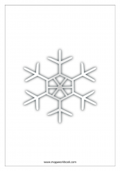 Christmas Coloring Pages - Christmas Coloring Sheets - Snow Flake