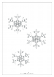 Christmas Coloring Pages - Christmas Coloring Sheets - Snow Flakes