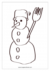 Christmas Coloring Pages - Christmas Coloring Sheets - Snowman