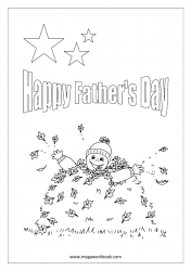 Father's Day Coloring Pages - Boy Wishing Happy Father's Day