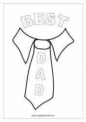 Father's Day Coloring Pages - Best Dad Worksheet