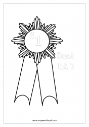 Father's Day Coloring Pages - Best Dad - Number #1 Dad Worksheet