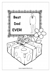 Father's Day Coloring Pages - Best Dad Ever - Certificate