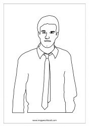 Father's Day Coloring Pages - Dad