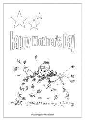 Mother's Day Coloring Pages - Boy Wishing Happy Mother's Day