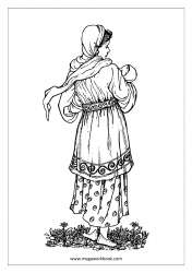 Mother's Day Coloring Pages - Mother With Baby
