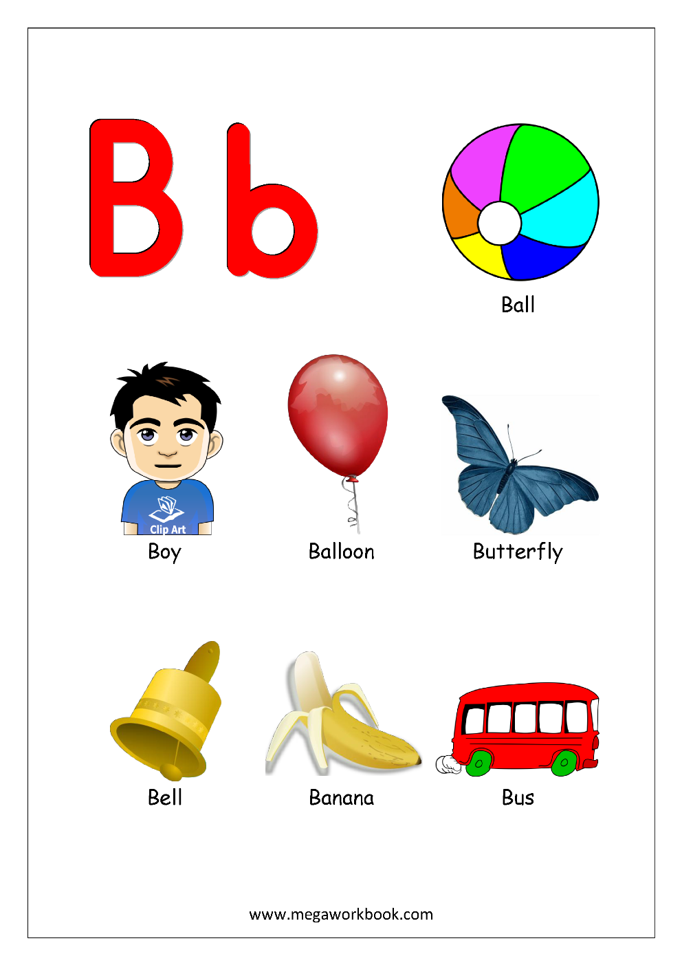 six letter words starting with b objects that begin with the letter b pictures to pin on 41227