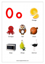 things that start with the letter o free printable alphabet reading pages things that start 25260 | Objects Starting With Alphabet O