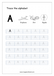 Tracing Letters - Letter Tracing Worksheet - Capital Letter A