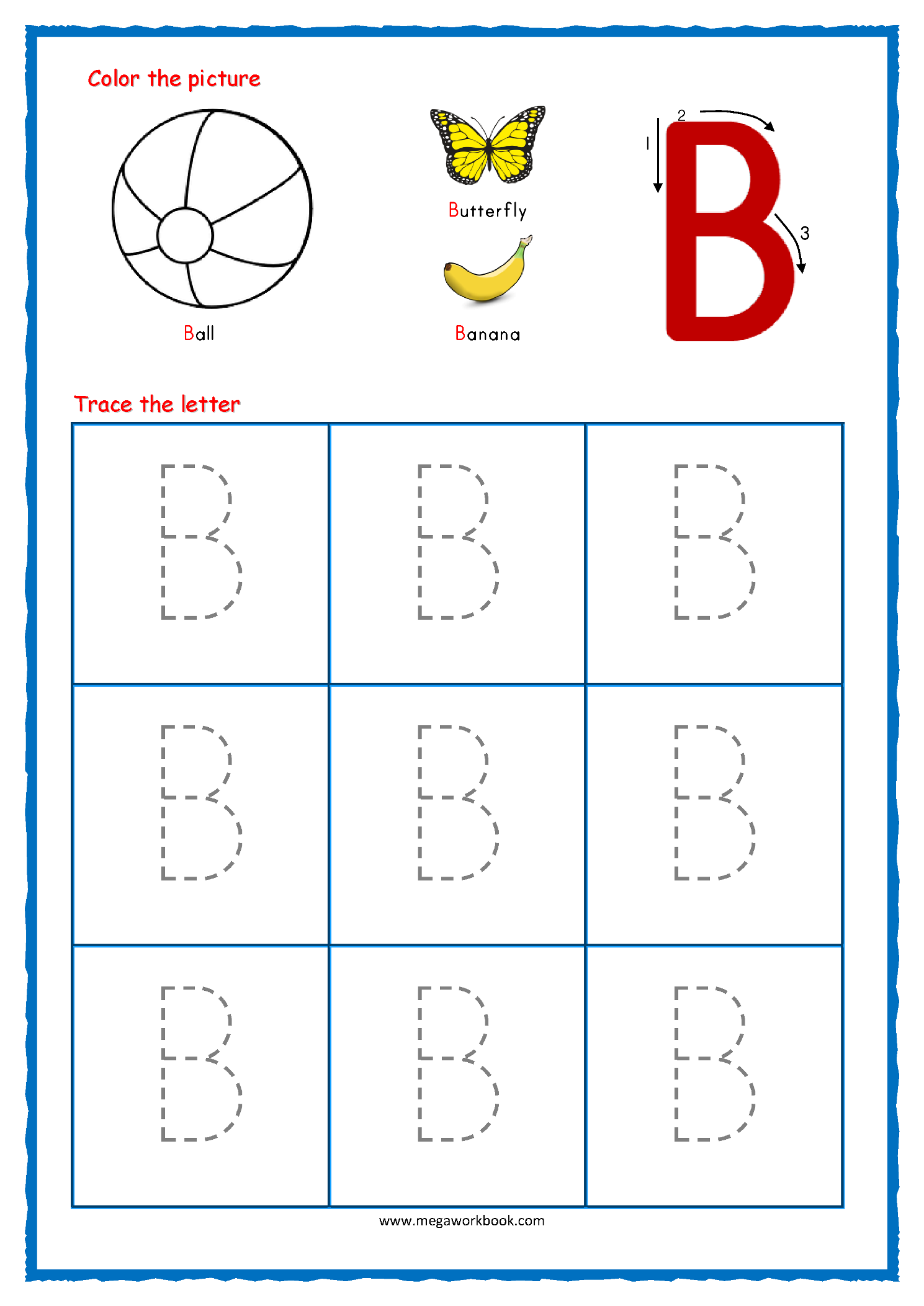 Tracing Letters Alphabet Tracing Capital Letters Letter Tracing Worksheets Free Printables Megaworkbook