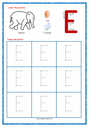 Tracing Letters - Letter Tracing Worksheets - Capital E - Free Preschool Printables