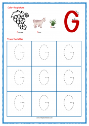 Tracing Letters - Letter Tracing Worksheets - Capital G - Free Preschool Printables