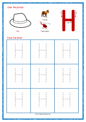 Tracing Letters - Letter Tracing Worksheets - Capital H - Free Preschool Printables