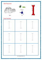 Tracing Letters - Letter Tracing Worksheets - Capital I - Free Preschool Printables