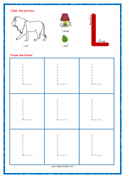 Tracing Letters - Letter Tracing Worksheets - Capital L - Free Preschool Printables