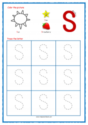 Tracing Letters - Letter Tracing Worksheets - Capital S - Free Preschool Printables