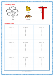 Tracing Letters - Letter Tracing Worksheets - Capital T - Free Preschool Printables