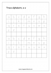 Alphabet Tracing Worksheet - Alphabet Tracing Sheets - Small Letters a-z