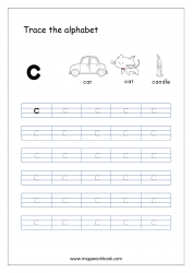Alphabet Tracing Worksheet - Alphabet Tracing Sheets - Small Letter c