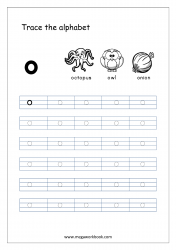 Alphabet Tracing Worksheet - Alphabet Tracing Sheets - Small Letter o