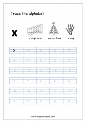Alphabet Tracing Worksheet - Alphabet Tracing Sheets - Small Letter x